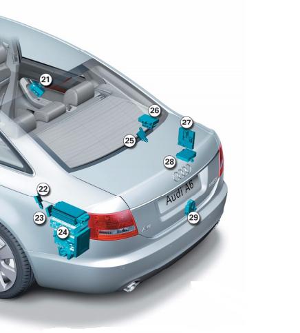2008-2008 #3 Essuie-glace moteur arrière pour A6 2.0 TDI C6