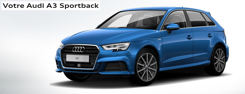 new audi a3 design luxe tdi 150 stronic en remplacement s3 berline a3 8v a3 sportback a3. Black Bedroom Furniture Sets. Home Design Ideas