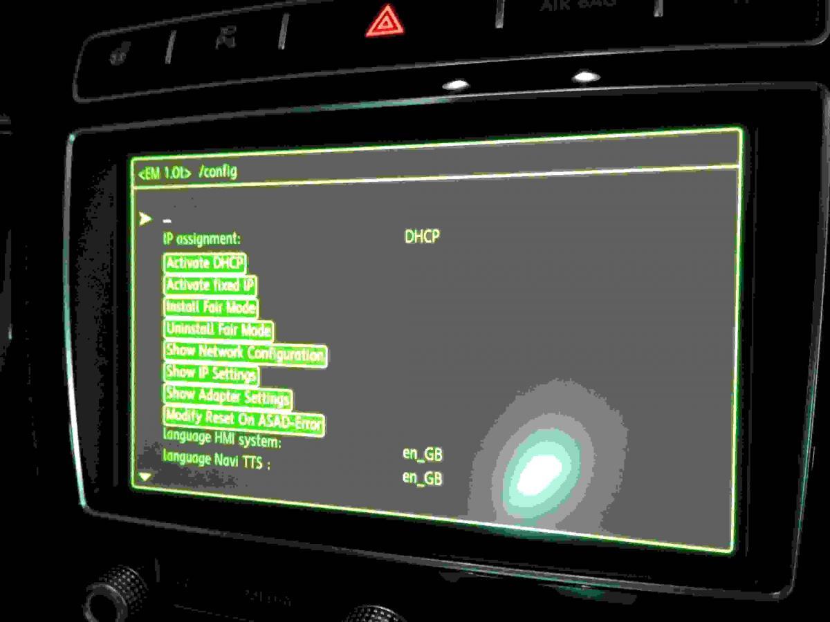 Audi Mmi Firmware green Menu a6 4g