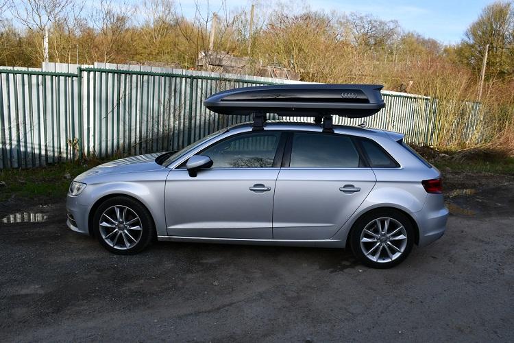 coffre de toit audi 405 litres a3 8v a3 sportback a3 cabriolet depuis 2012. Black Bedroom Furniture Sets. Home Design Ideas